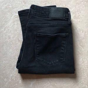 Levi's Mid Rise Skinny Black Jeans 10 30